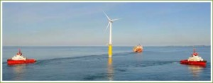 The world's first floating wind turbine goes live!