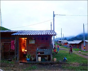 A must-have: Electricity allows rural villages to join global networks and escape poverty; above, a home with light in Antioquia, Colombia.