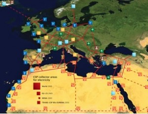 The DESERTEC Concept describes the perspective of a sustainable supply of electricity for Europe (EU), the Middle East (ME) and North Africa (NA) up to the year 2050.