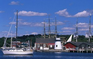e-Gen tested their slow-flow hydro energy machine of the waters of Mystic Seaport