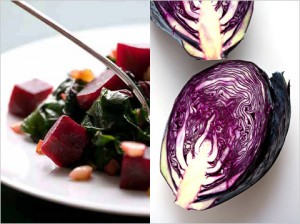 Maybe you should be eating more beets, left, or red cabbage. Photo by Andrew Scrivani for The New York Times.
